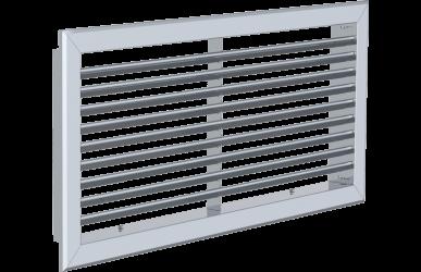 13.3 Lüftungsgitter mit feststehenden 45° Lamellen – RAG45